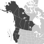 West Coast USA and Western Canada