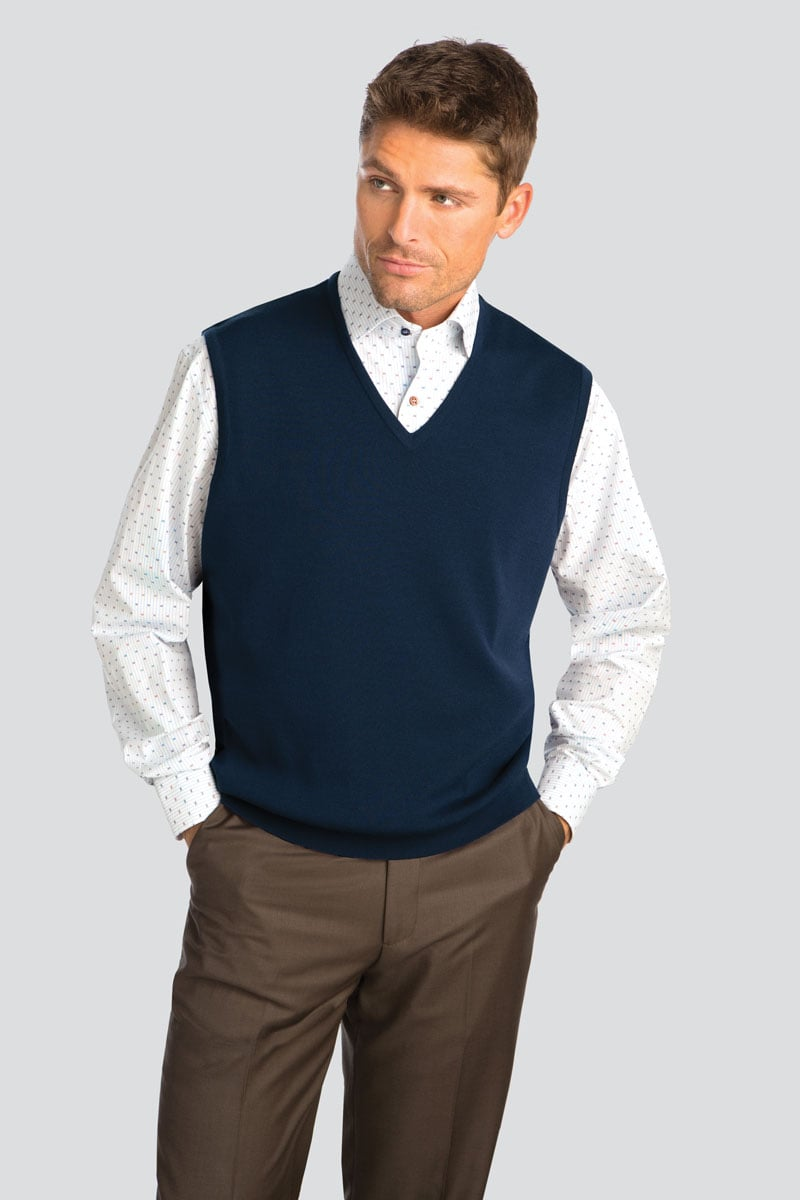 Classic All Wool Pullover Vest
