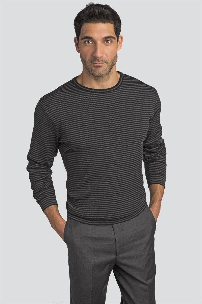 Bar Stripe Wool Pullover